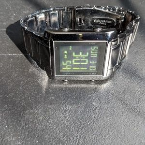 Other - Designer Square Silver Metal Watch